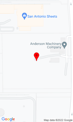 Google Map of Anderson Machinery Company 9415 Northeast Loop 410, San Antonio, TX, 78219