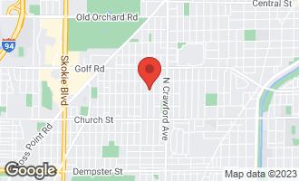 Map of 9415 Kedvale Avenue SKOKIE, IL 60076