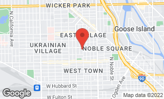 Map of 942 North Wood Street #2 CHICAGO, IL 60622