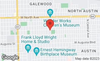 Map of 945 North Elmwood Avenue OAK PARK, IL 60302
