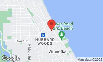 Map of 949 Fisher Lane WINNETKA, IL 60093