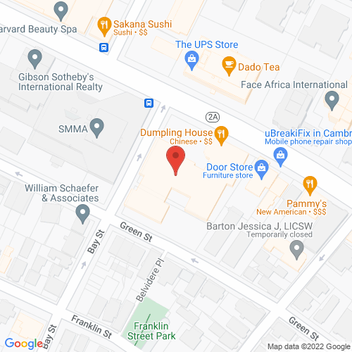 Map of the area around Gr. Boston Buddhist Cultural Center