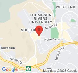 Google Map of 950+Notre+Dame+Drive%2CKamloops%2CBritish+Columbia+V2C+6B9