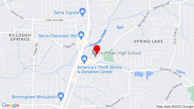 Google Map of 950 Springville Rd, Birmingham, AL 35215