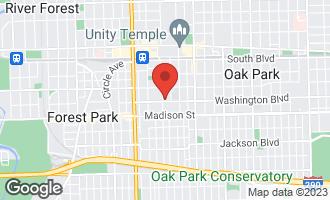 Map of 950 Washington Boulevard #205 OAK PARK, IL 60302