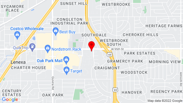 Google Map of 9500 Bluejacket Drive, Overland Park, KS 66214