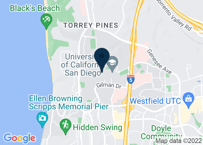 Map of 9500 Gilman Dr., La Jolla, CA 92093, United States
