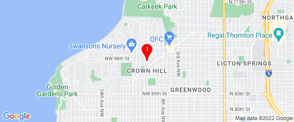 Google Map of 9511 12th Ave NW Seattle, Washington 98117