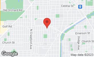 Map of 9520 Central Park Avenue EVANSTON, IL 60203