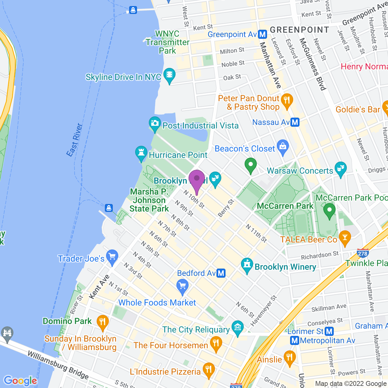 Location map - 96 Wythe Ave Brooklyn, NY 11249