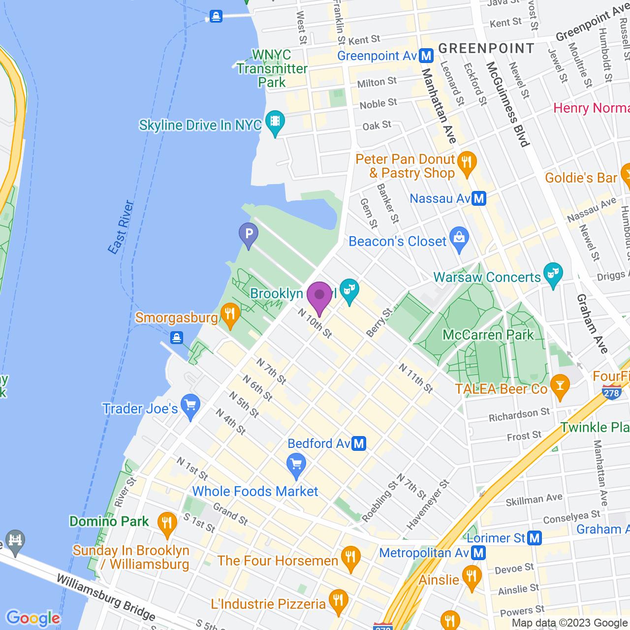 Location map - 96 Wythe Ave Brooklyn, NY 11249