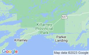 Map of Killarney Provincial Park