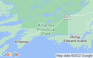 Map of Killarney Provincial Park