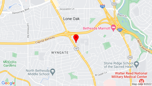 Google Map of 9601 Old Georgetown Rd, Bethesda, MD 20814