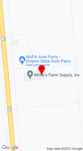 Google Map of White's Farm Supply, Inc. 962 State Route 12, Waterville, NY, 13480