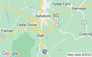 Map of Yogi Bear Jellystone Park Camp Resort Asheboro, NC