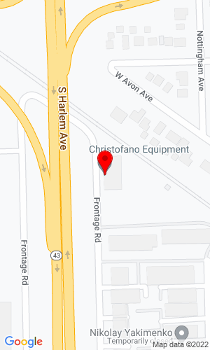 Google Map of Christofano Equipment Company 9643 S. Harlem Avenue, Chicago Ridge, IL, 60415