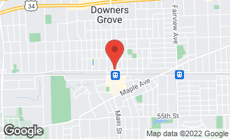 Map of 965 Rogers Street #104 DOWNERS GROVE, IL 60515