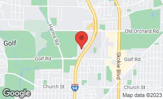 Map of 9655 Woods Drive #1910 SKOKIE, IL 60077