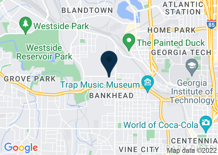 Map of 970 Jefferson Street Northwest, Atlanta, GA 30318, United States