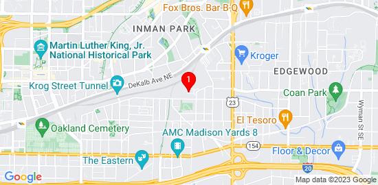 Google Map of 970 moda drive Atlanta, ga 30316