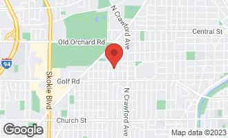 Map of 9707 Kedvale Avenue SKOKIE, IL 60076