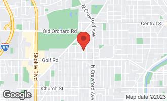 Map of 9715 Kedvale Avenue SKOKIE, IL 60076