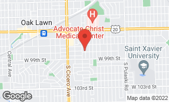 Map of 9736 South Kolmar Avenue OAK LAWN, IL 60453