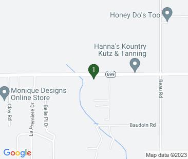 Google Map of 9775 LA-699, Maurice, LA 70555, USA