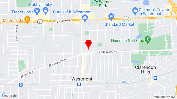 Google Map of 98 E. Chicago Avenue, Westmont, IL 60559