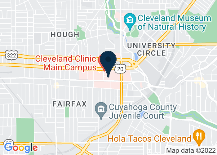 Map of 9801 Carnegie Ave., Cleveland, OH 44106, United States