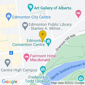 Map to CKUA Performance Room provided by Google