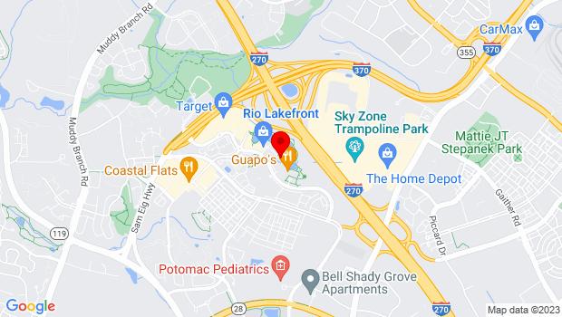 Google Map of 9811 Washingtonian Blvd, Gaithersburg, MD 20878