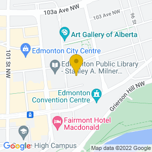 Map to Citadel Theatre provided by Google