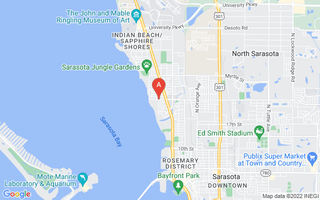 984 Indian Beach Dr Sarasota Florida 34234 locatior map