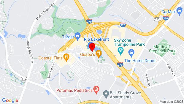 Google Map of 9841 Washingtonian Blvd #200, Gaithersburg, MD 20878