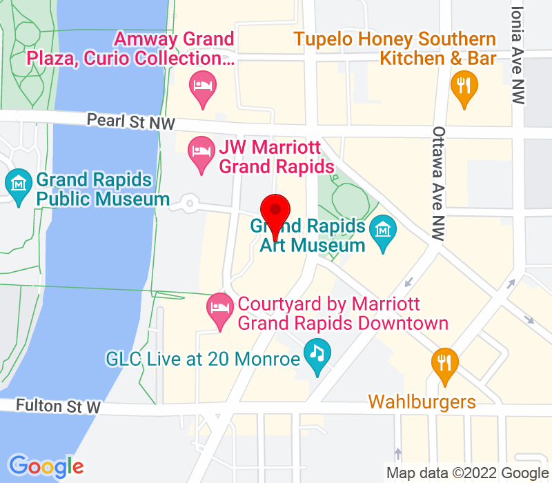 Click to view Google maps office address 99 Monroe Ave., Suite 850, Grand Rapids, MI 49503