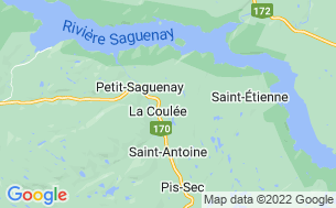 Map of Camping Village-Vacances Petit-Saguenay