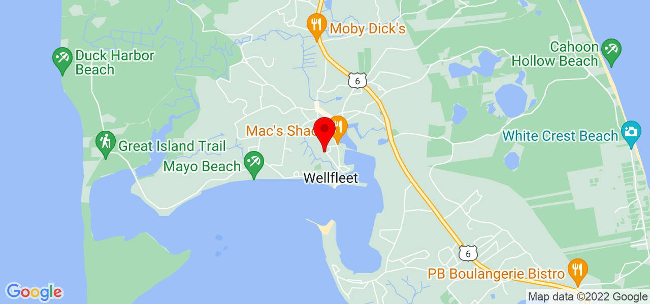 Google Map of99 Holbrook Ave Wellfleet MA
