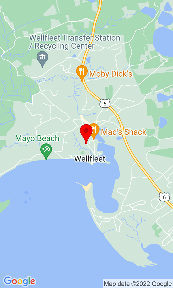Google Map of 99 Holbrook Ave Wellfleet MA 02667