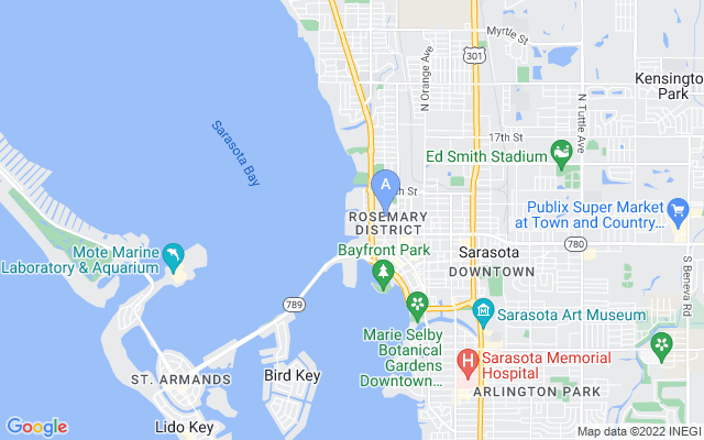 990 Blvd Of The Arts #1403 Sarasota Florida 34236 locatior map