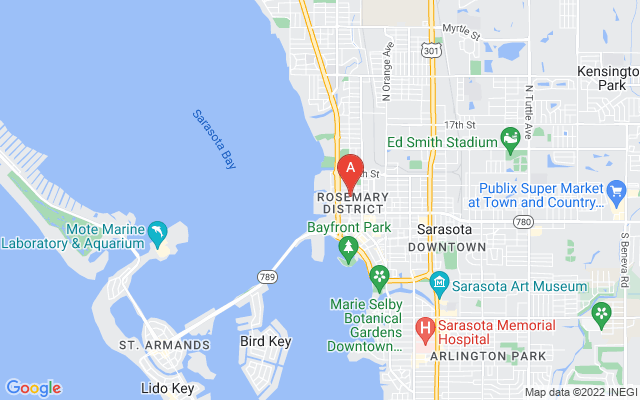 990 Blvd Of The Arts #1800 Sarasota Florida 34236 locatior map