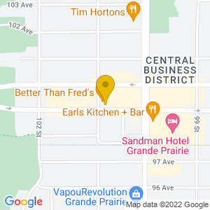 Map to Better Than Fred's provided by Google