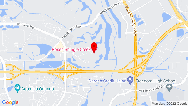 Google Map of 9939 Universal Blvd., Orlando, FL 32819
