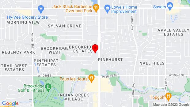 Google Map of 9948 Metcalf Ave., Overland Park, KS 66212