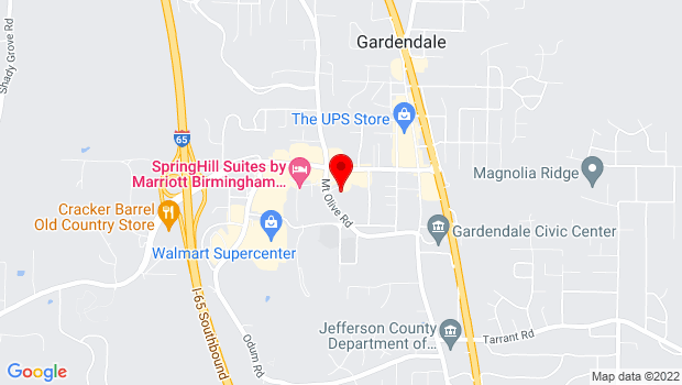 Google Map of 995 Mt Olive Rd, Gardendale, AL 35071