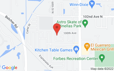 Map of Pinellas Clinic