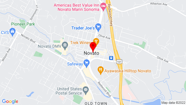 Google Map of 999 Grant Avenue, Novato, CA 94945