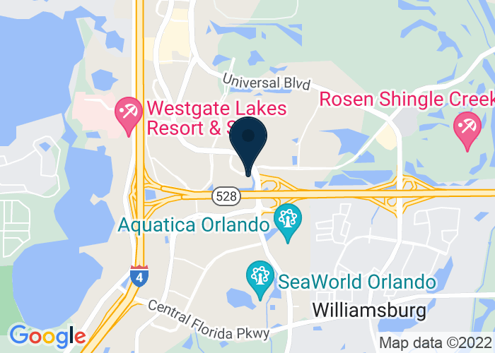 Map of 9990 International Drive, Orlando, FL 32819, United States