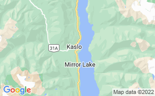 Map of Kaslo Municipal Campground